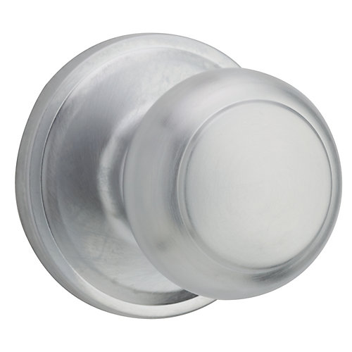 Troy Satin Chrome Passage Knob
