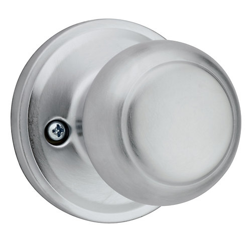Troy single dummy  knob - satin chrome finish