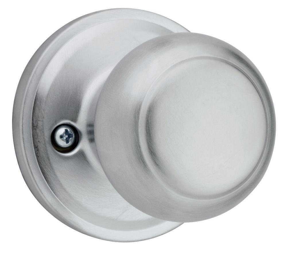 Troy single dummy  knob - satin chrome finish