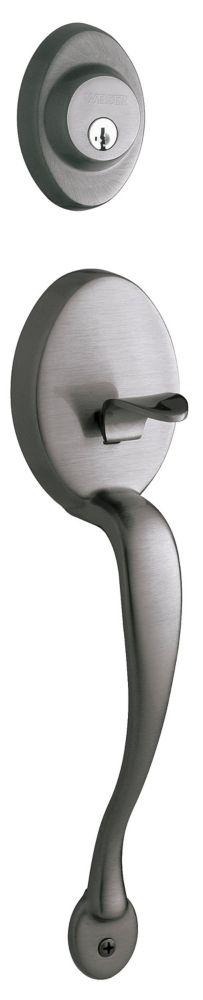 Serrure dentrée augusta et bouton intérieur troy, avec la technologie de SmartKey � fini chrome s...