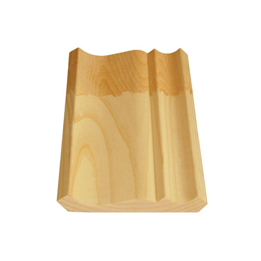 Doucine/Couronne jointée en pin 9/16 x 4 1/2 (Prix par pied)