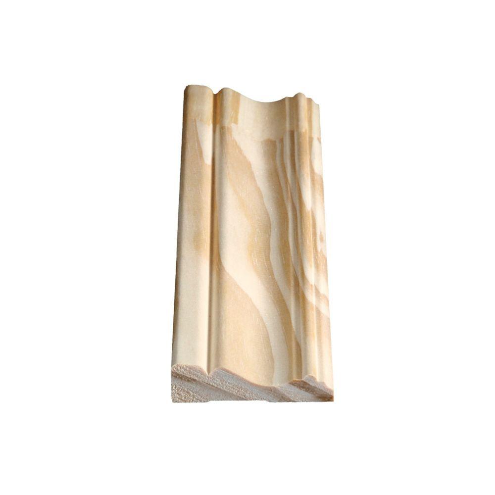 Dormant colonial jointé, pin 11/16 x 2 1/2 (Prix par pied)