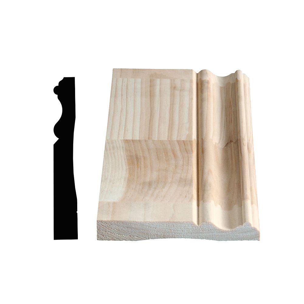 Plinthe coloniale jointée, pin 11/16 X 4 5/8 (Prix par pied)