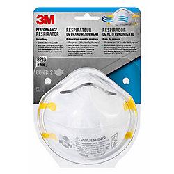 3M Respirateur pour le poncage et l'isolation a la fibre de verre 3M, 2/emballage