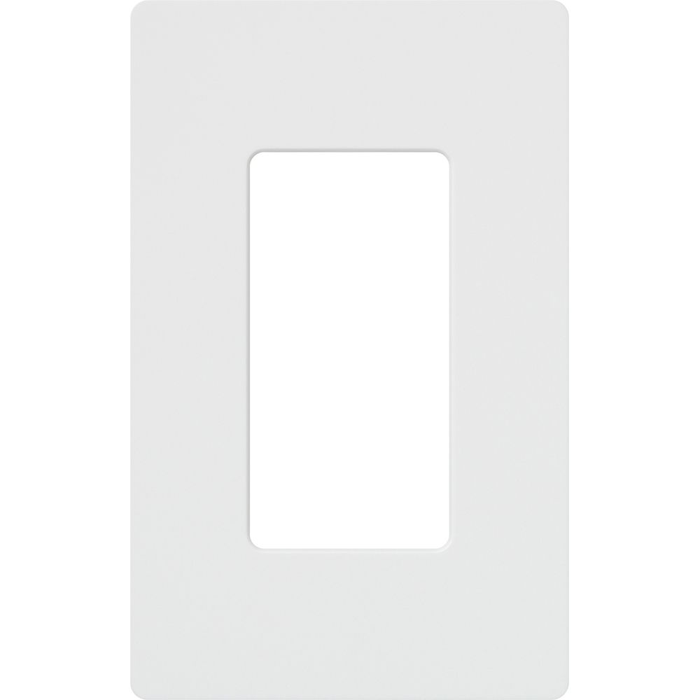 Claro 1-Gang Wallplate, White