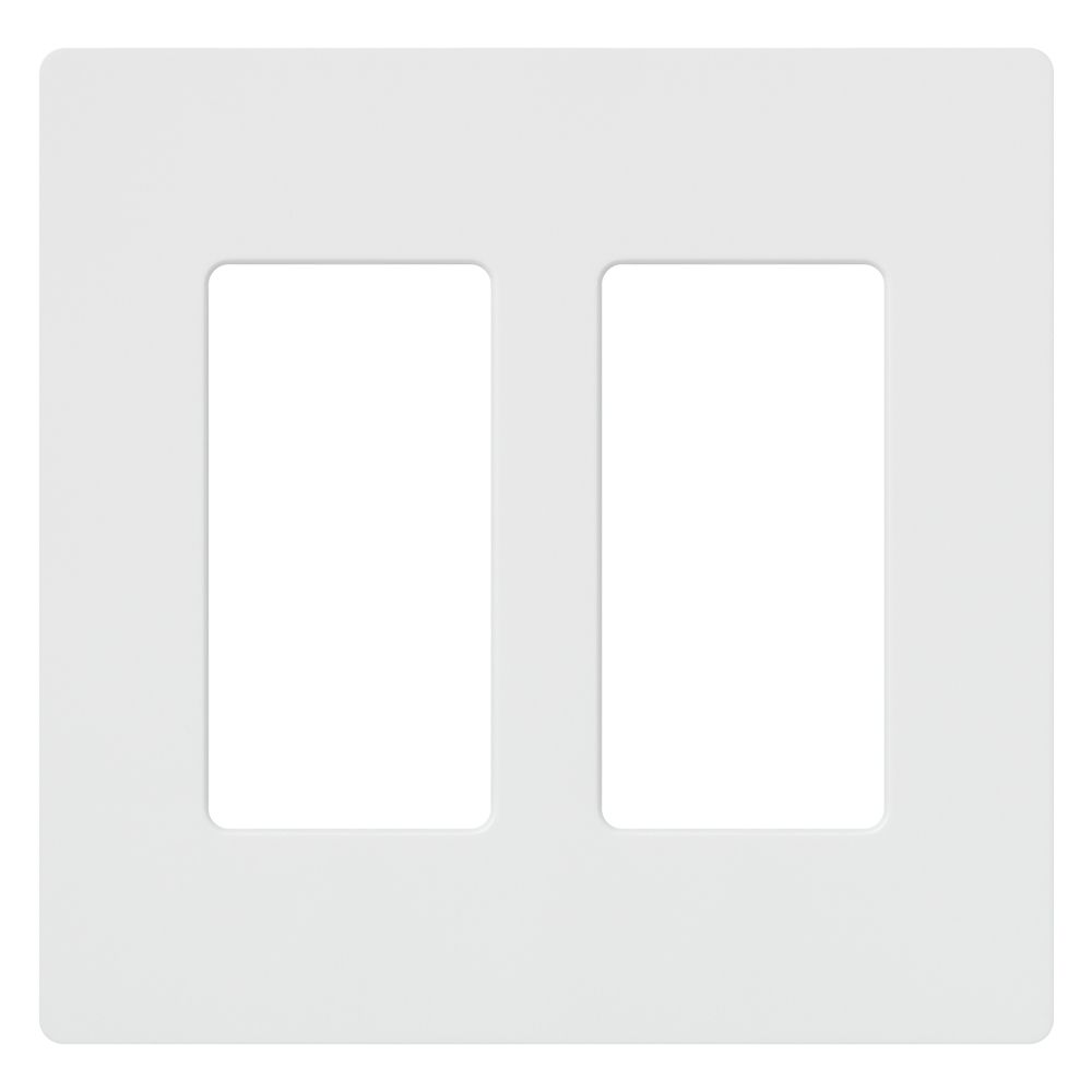 Lutron Claro 2-Gang wall plate, White