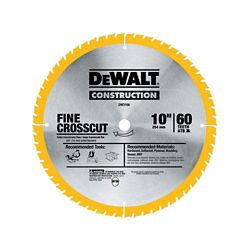 DEWALT 20 Series 10-inch 60T Fine Finish Saw Blade