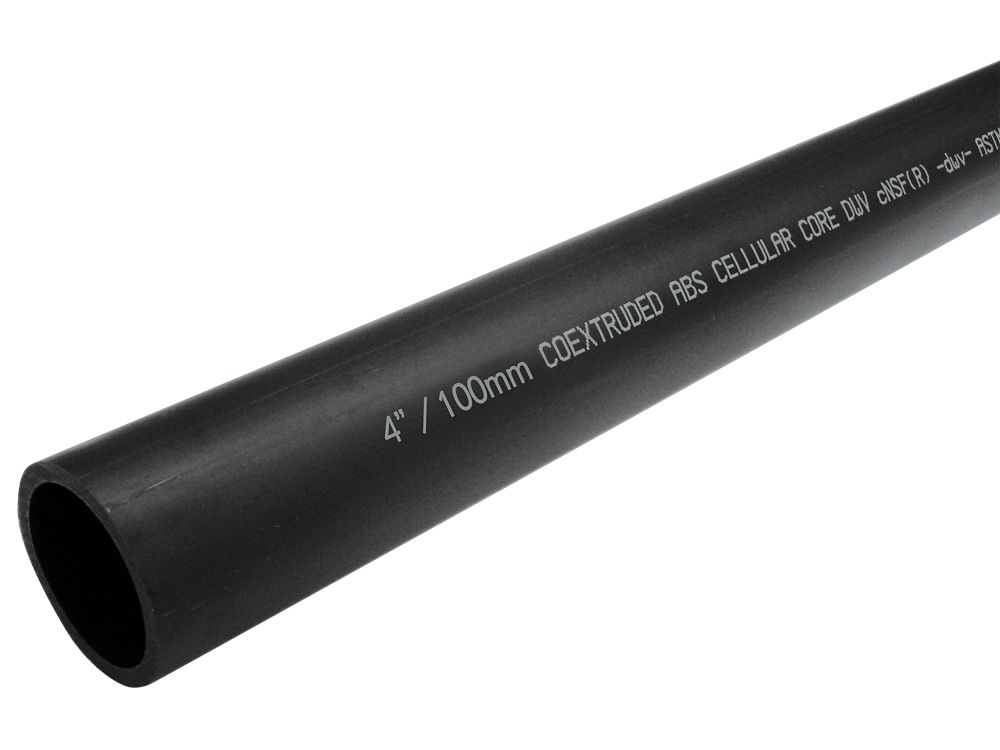 ABS PIPE 4 inches x  6 ft CELL CORE