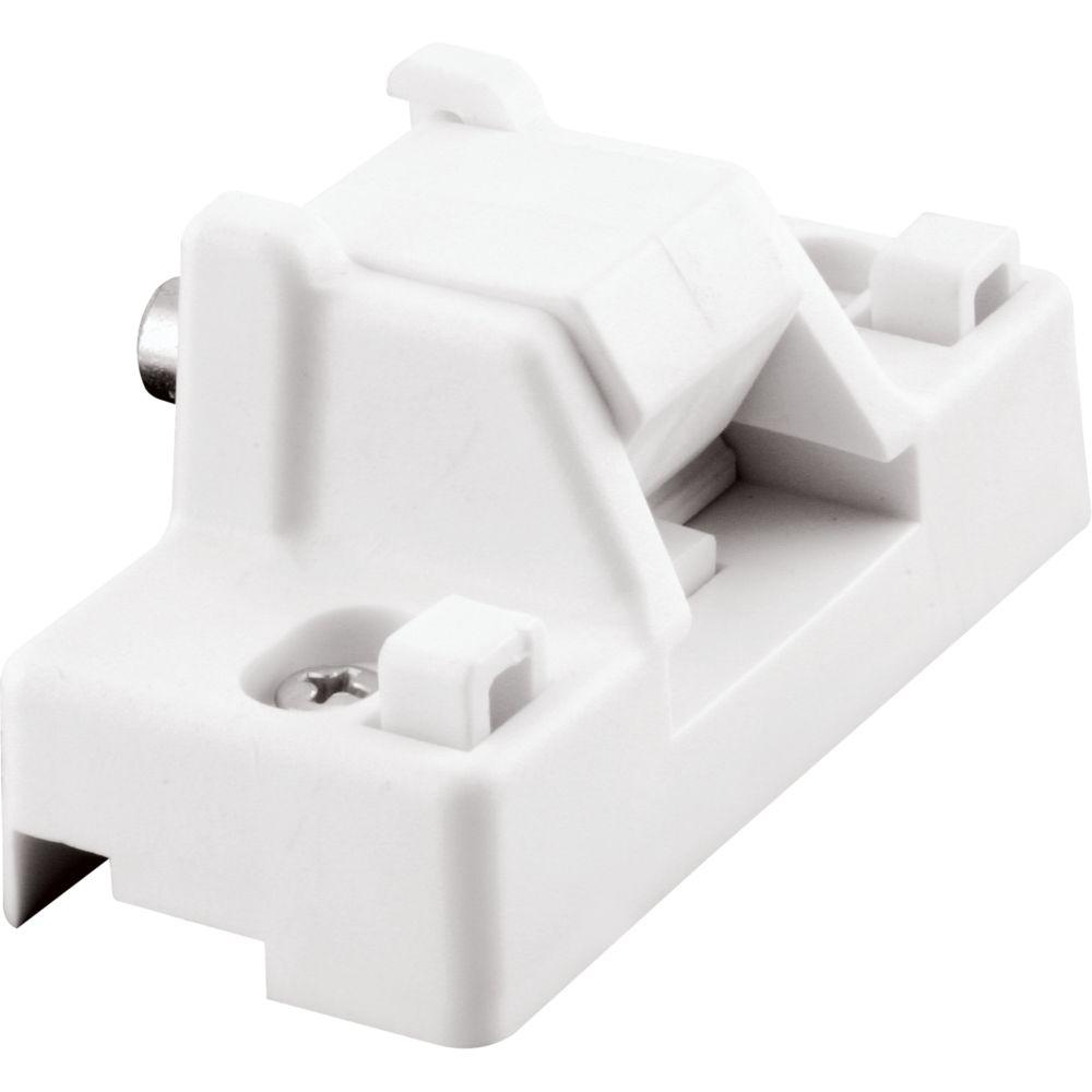 Verrou en plastique blanc pour porte coulissante