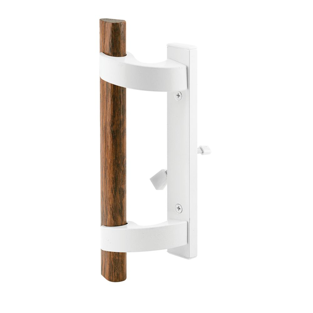 White Patio Door Handle with Mortise Lock