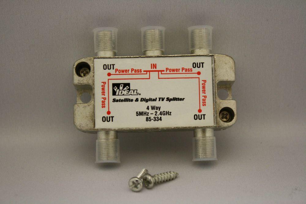 Répartiteur à 4 voies pour Satellite/HGTV à 2,3 GHz