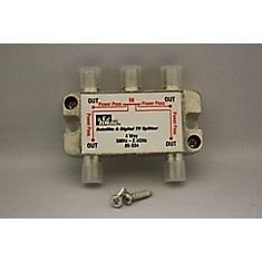 4-Way HGTV/Satellite Splitter 2.3GHz