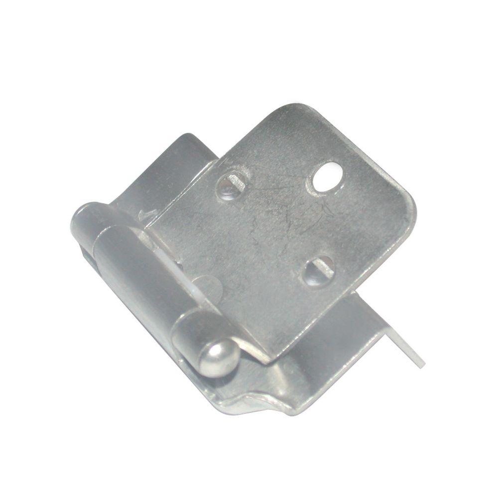 Self closing hinge 5/8 In. overlay - brushed nickel