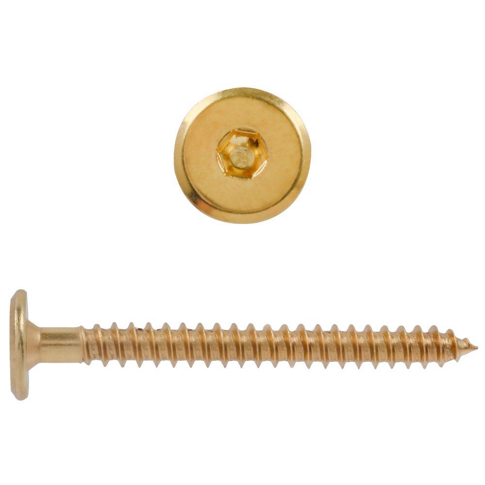 M7X2-3/4 Connctor Screw Brass Pltd