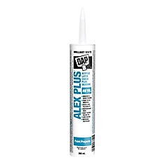 Alex Plus 300 mL White Acrylic Latex Caulk with Silicone