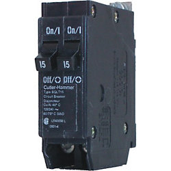 Eaton Cutler-Hammer Bolt-On Duplex/Quad Replacement Breaker - 2-1P 15A