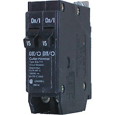 Bolt-On Duplex/Quad Replacement Breaker - 2-1P 15A