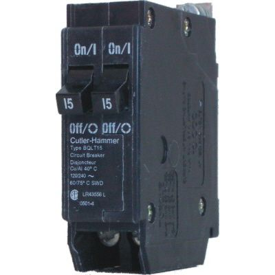 Eaton Cutler-Hammer Bolt-On Duplex/Quad Replacement Breaker - 2-1P 15A