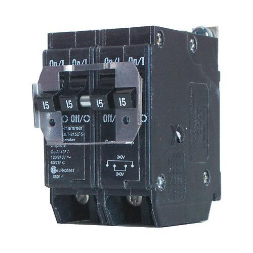 Bolt-On Duplex/Quad Replacement Breaker - 2-2P 15A
