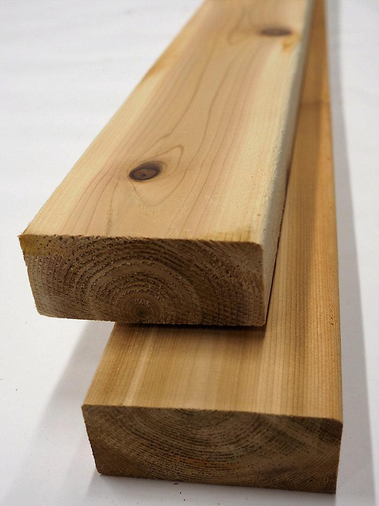 Porcupine 2x4x10' Premium Cedar Decking | The Home Depot Canada