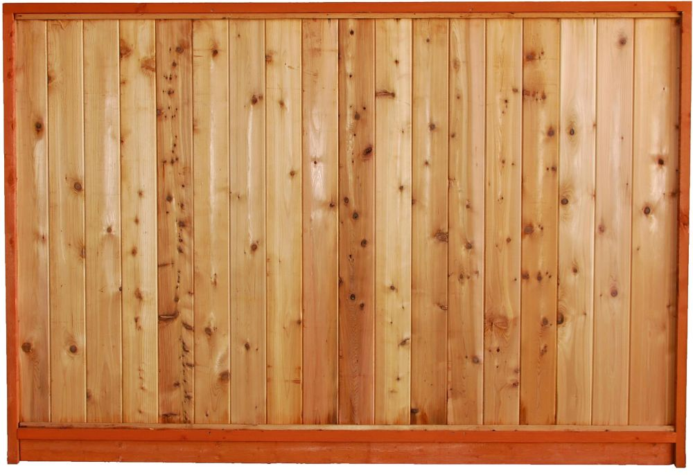Micro Pro Sienna Treated Wood Lattice Top Fence Panel The Home