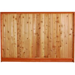AIM Cedar Works 65 7/16 X 8 PREM. Solid Fence Panel