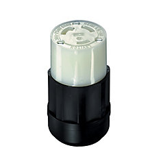 30 Amp Locking Connector 250 Volt, Black And White