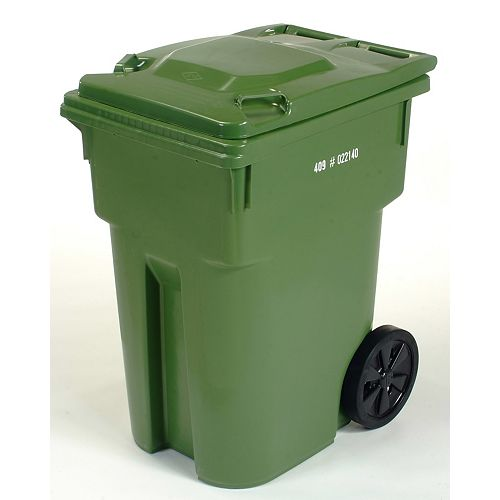 IPL Mastercart 95 GAL Green Wheeled Cart with 12-inch Wheels