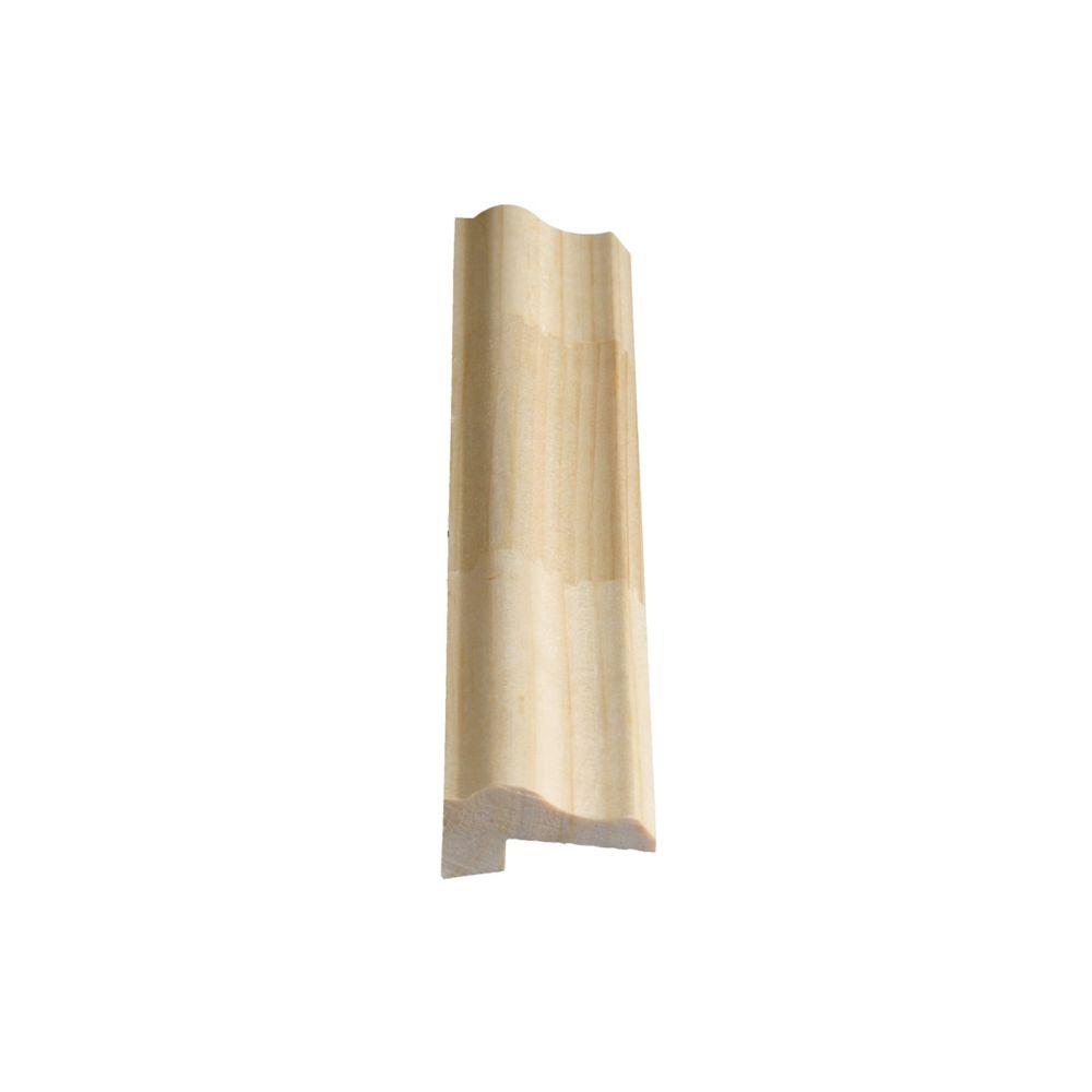Moulure à lambris jointée, en pin 13/16 x 1 5/8 (Prix par pied)