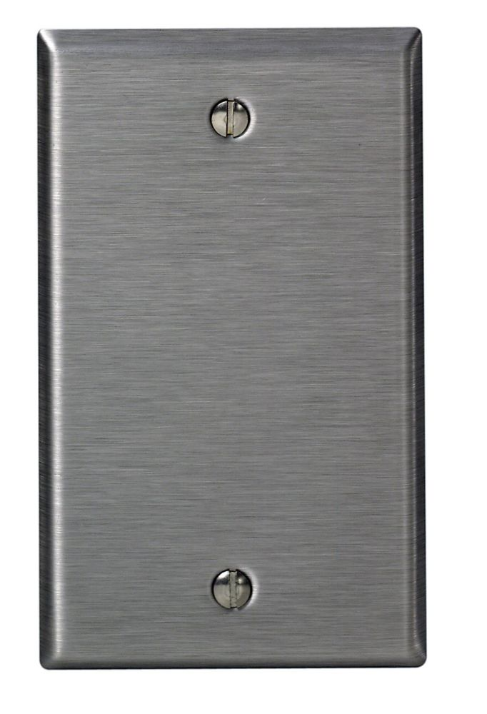 Wall Plate 1-Gang, Stainless Steel