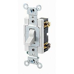 Leviton Interrupteur Bipolaire, 15A, 120/277V, Blanc