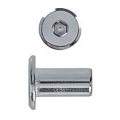 1/4-20x17mm douille de raccord plaque nickel