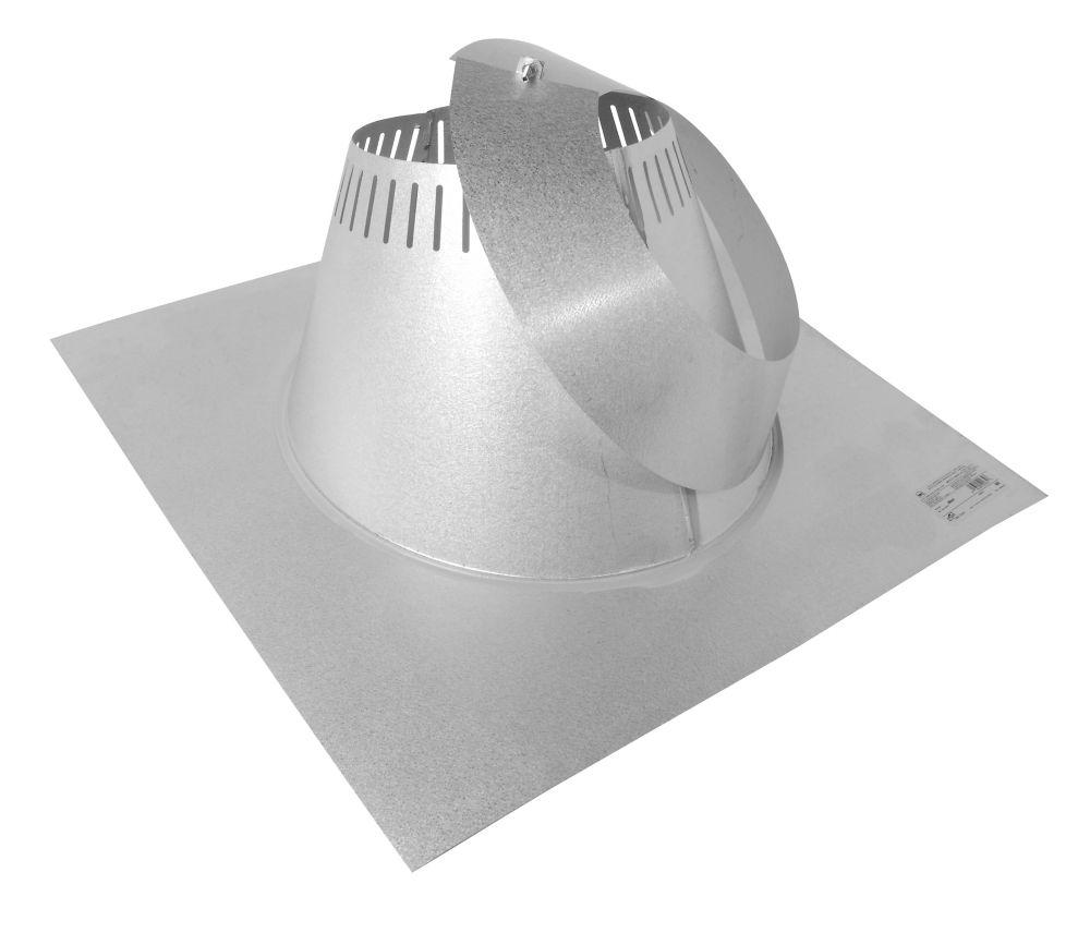 Max Chimney 7 Inch diameter Roof Flashing 0/12-6/12