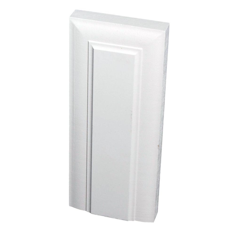 Primed Fibreboard Victorian Plinth Block 1 In. x 3-3/4 In. x 9 In.