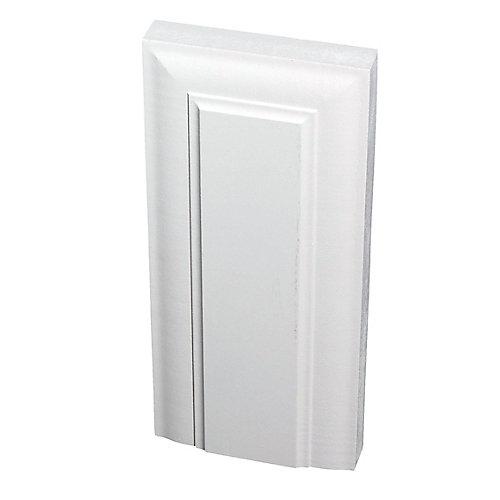 Primed Fibreboard Victorian Plinth Block 1 In. x 4-1/8 In. x 9 In.