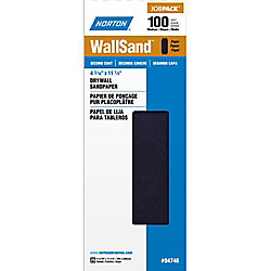 Norton WallSand 4-3/16 inch x11-1/4 inch  Sanding Sheets Medium-100 grit (25-Pack)