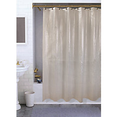 Varigated Shower Curtain, Silver - 70 Inches x 72 Inches