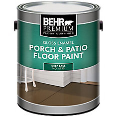 Behr Premium Revêtements De Planchers Peinture Intérieure/Extérieure Pour Planchers - Galerie & Patio - Émail Brillant - Base Foncée, 3,43 L