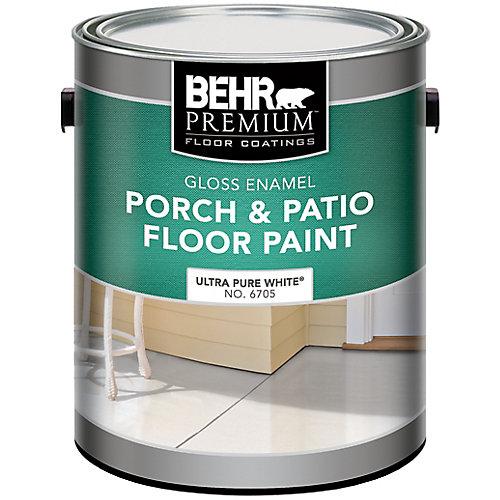 PREMIUM Gloss Enamel Porch & Patio Floor Paint, Ultra Pure White, 3.79L
