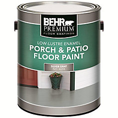 3.8 L #PFC-68 Silver Grey Low-Lustre Interior/Exterior Porch and Patio Floor Paint