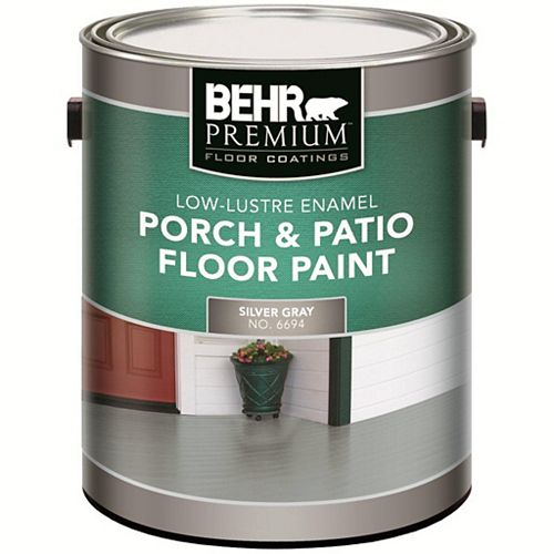 BEHR 3.8 L #PFC-68 Silver Grey Low-Lustre Interior/Exterior Porch and Patio Floor Paint