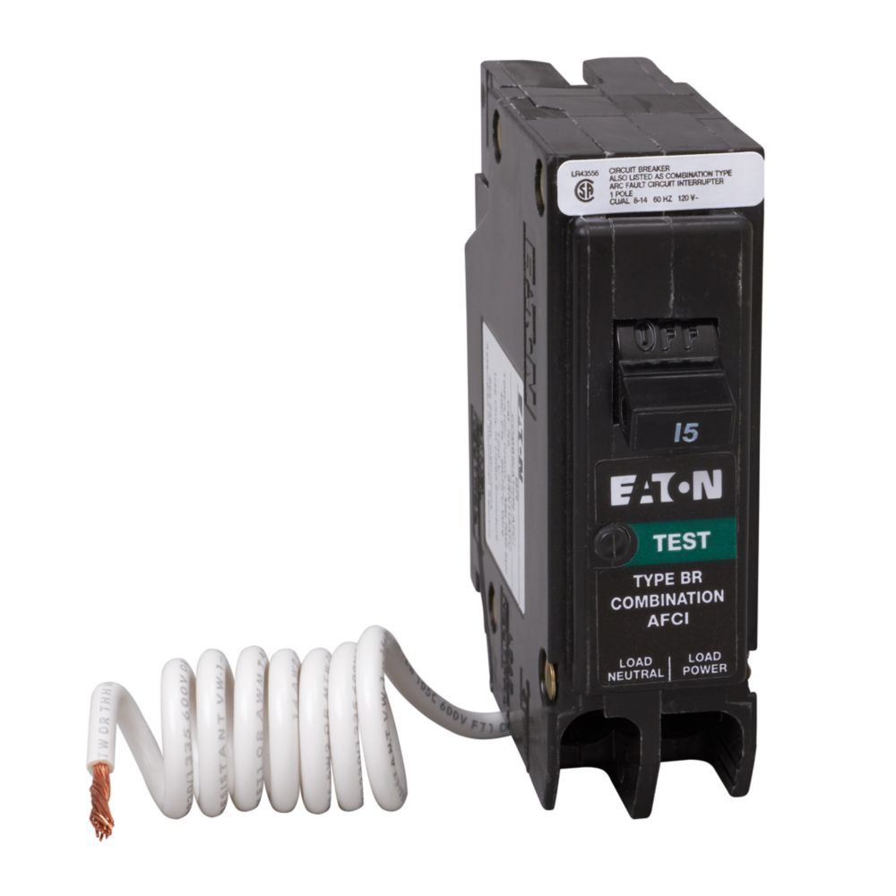 Plug-In Type Br Arc Fault Circuit Interrupter - 1P 15A BRC115AFCS Canada Discount