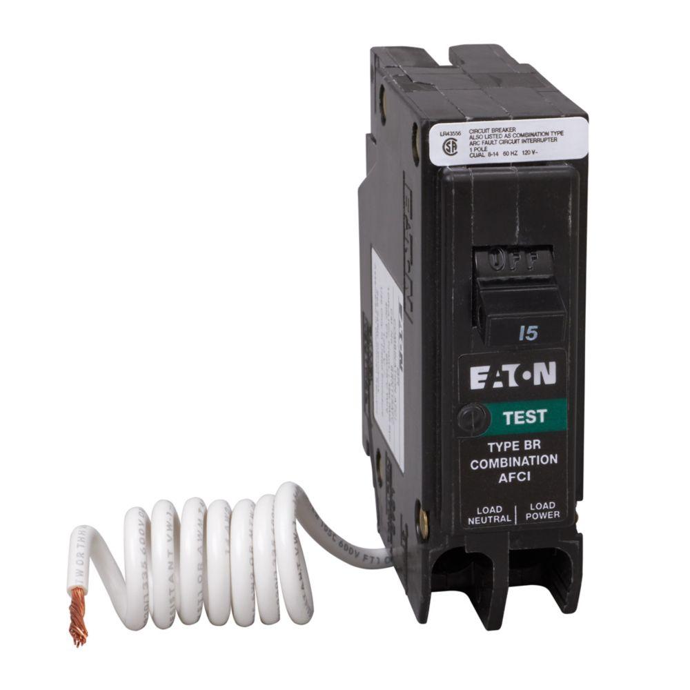 Eaton 15 AMP Single Pole Arc Fault Breaker