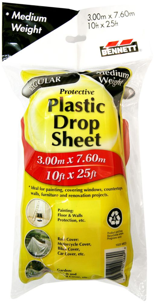 10 Ft. X 20 Ft. Clear 1 Mil Drop Cloth