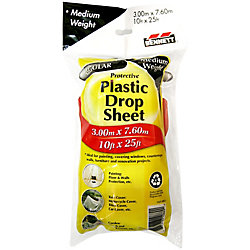 BENNETT 10 ft. X 25 ft. Clear 1 Mil Drop Cloth