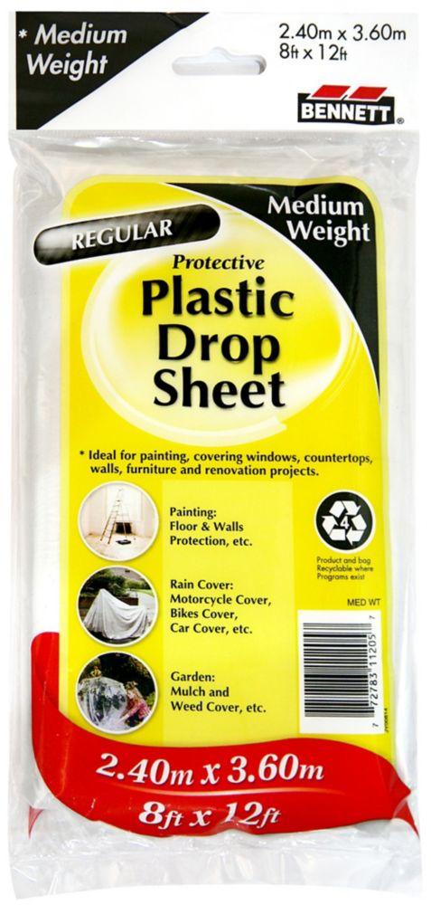 Medium Weight Plastic Drop Sheet
