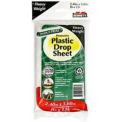 BENNETT 9 Ft. X 12 Ft. Clear 2 Mil Drop Cloth