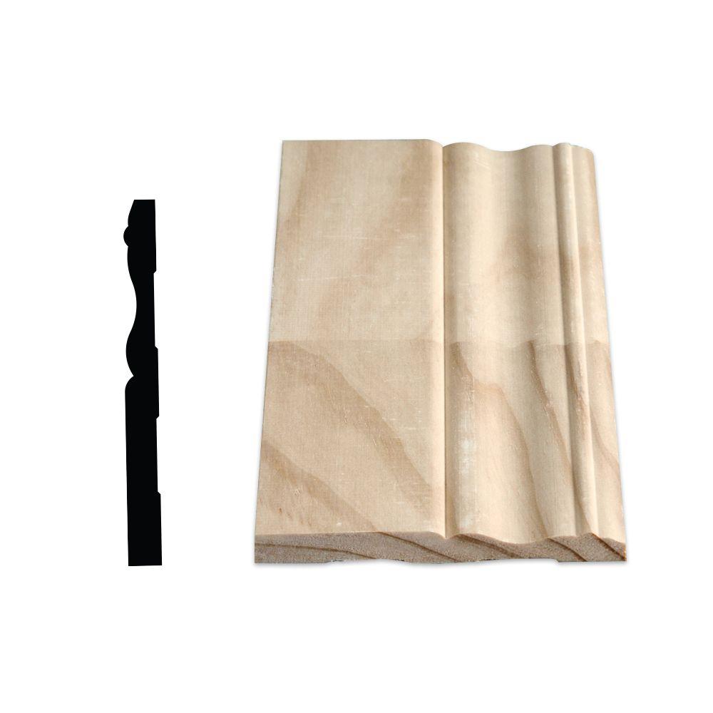 Plinthe coloniale jointée, pin 7/16 X 4 1/8 (Prix par pied)
