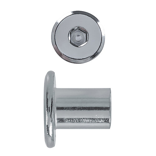 1/4-20X14Mm Connector Cap Nut Nickel