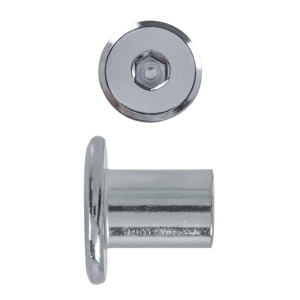 Paulin 1/4-20X14Mm Connector Cap Nut Nickel